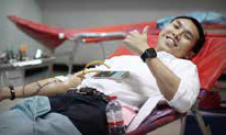 Blood Donation Tribute to His Majesty the King